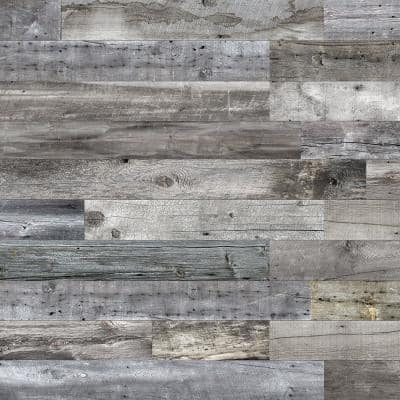 Barnwood Collection 3/8 in. x 6 in. x 64 in. Mountain Music Engineered Wood Interior Accent Wall Panel (8 Panels/Box)