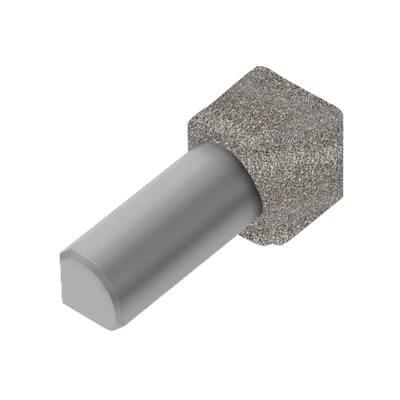 Rondec Stone Grey 3/8 in. x 1 in. Color-Coated Aluminum Tile Edging Trim 90-Degree Inside Corner