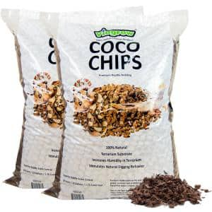1.75 cu. ft. Coco Coir Chips, Premium Reptile Substrate Bedding 52 qt. / 50 L / 13 Gal. (2-Pack)