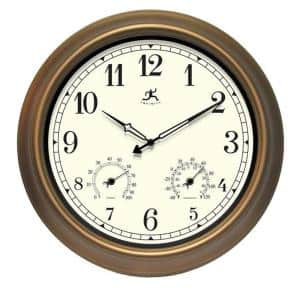 Craftsman 18 in. W x 18 in. L Round Outdoor Wall Clock