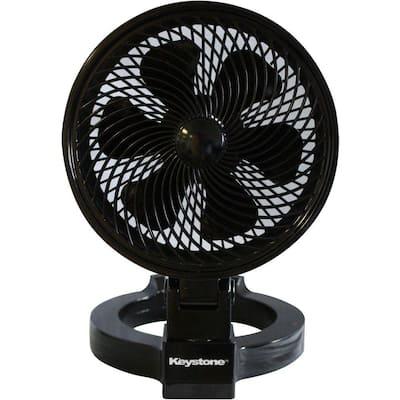 7 in. Convertible Fan in Black