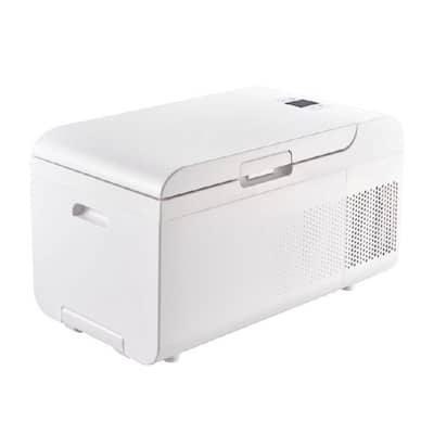 22.4 in. W 0.7Cu ft Portable Fridge-Freezer in White