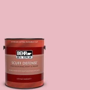 Behr Ultra 1 Gal M150 2 Peppermint Stick Extra Durable Flat Interior Paint Primer 172001 The Home Depot