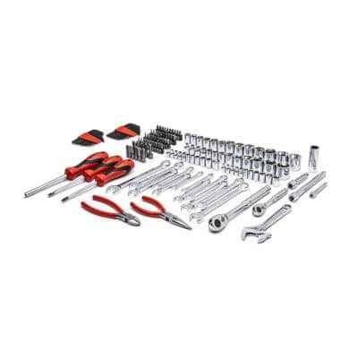 1/4 in. and 3/8 in. Drive 6-Point SAE/Metric Professional Tool Set (150-Piece)