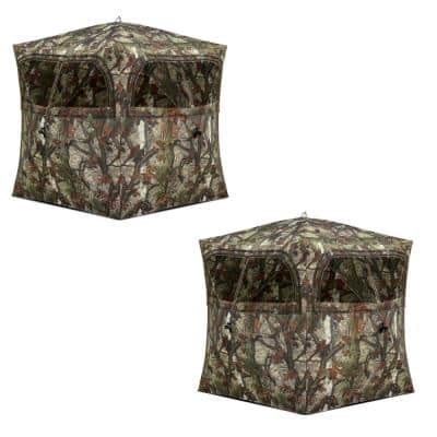 Grounder 250 Camo Lightweight Pop Up Ground Hunting Blind (2-Pack)