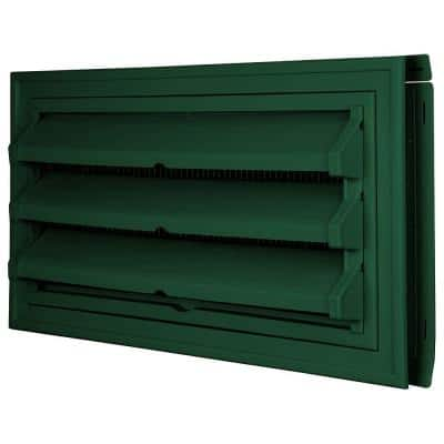 9-3/8 in. x 17-1/2 in. Foundation Vent Kit w/ Trim Ring and Optional Fixed Louvers (Galvanized Screen) #028 Forest Green