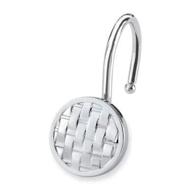 Woven Shower Hooks in Chrome (12-Pack)