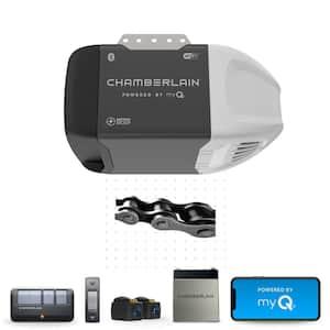 1/2 HP Smart Chain Drive Garage Door Opener with Battery Backup