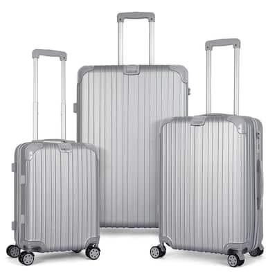 HIKOLAYAE Escape Luggage Spinner Set - Argent Silver
