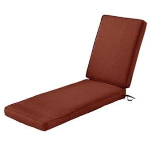 80 in. L x 26 in. W x 3 in. T Montlake Heather Henna Red Outdoor Chaise Lounge Cushion