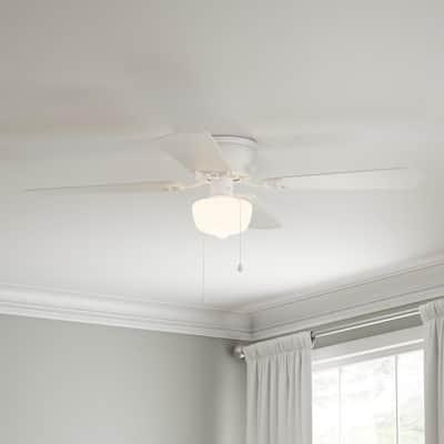 Littleton 42 in. LED Indoor White Ceiling Fan with Light Kit