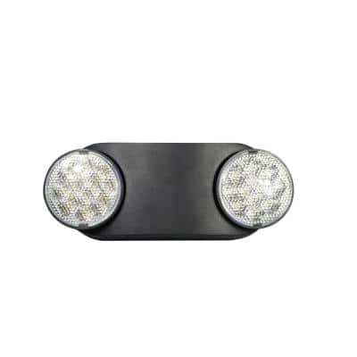 11-Watt Equivalent Oval Integrated LED Black Emergency Light with Ni-Cad 3.6-Volt Battery