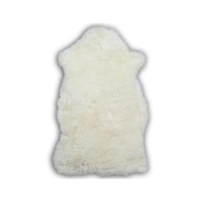 Natural White 2 ft. x 3 ft. Sheepskin Area Rug