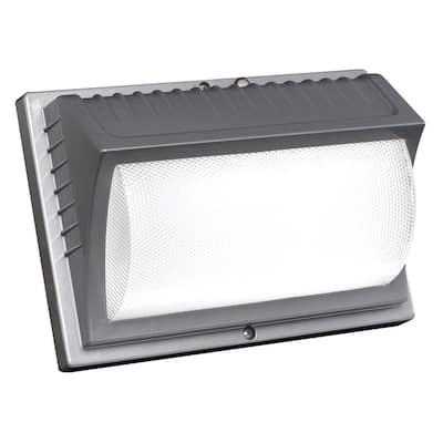 42-Watt Titanium Gray Integrated LED Outdoor Wall Pack Light, 4000L