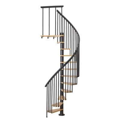 Calgary Black 55 in. Dia 2 Extra Baluster Stair Kit 110 in. High