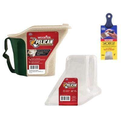 1 qt. Pelican Hand-Held Pail, 1-qt. Pelican Liner (3-Pack) and 2 in. Shortcut Polyester Angle Sash Brush
