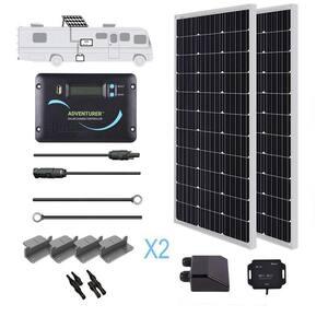 200-Watt 12-Volt Monocrystalline Off-Grid Solar System RV Kit