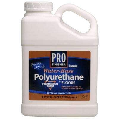 Pro Finisher 1 gal. Clear Semi-Gloss Water-Based Polyurethane for Floors