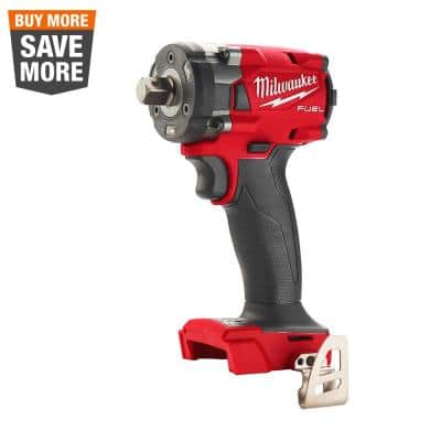 M18 FUEL GEN-3 18-Volt Lithium-Ion Brushless Cordless 1/2 in. Compact Impact Wrench with Pin Detent (Tool-Only)