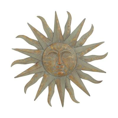 Iron Gray Celestial Sun Metal Work