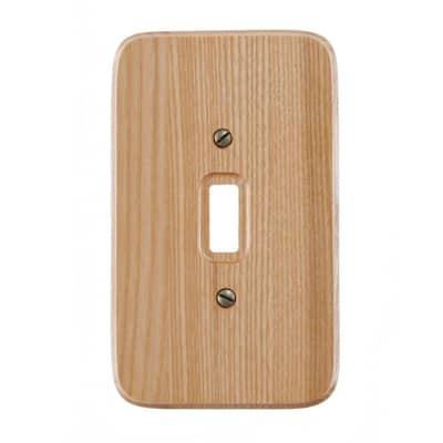 Wood 1-Gang Toggle Wall Plate (1-Pack)