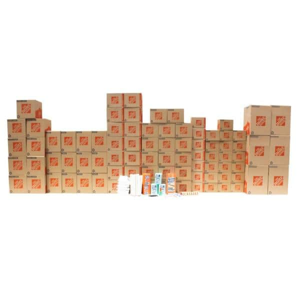 The Home Depot 80 Box 3 Bedroom Moving Box Kit 3brkit The Home Depot