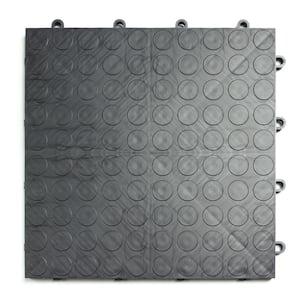 12 in. x 12 in. Coin Graphite Modular Tile Garage Flooring (24-Pack)