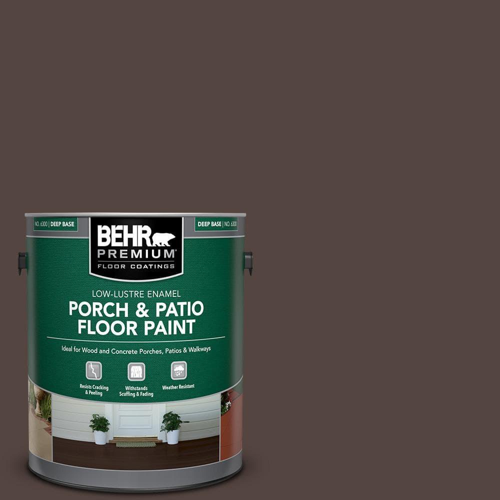 Behr Premium 1 Gal Pfc 25 Dark Walnut Low Lustre Enamel Interior Exterior Porch And Patio Floor Paint 630001 The Home Depot