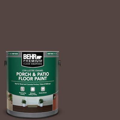 1 gal. #PFC-25 Dark Walnut Low-Lustre Enamel Interior/Exterior Porch and Patio Floor Paint
