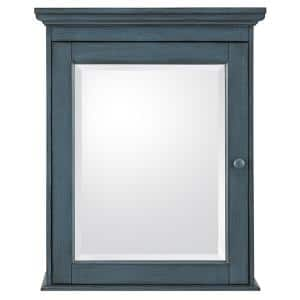 Cottage 23-5/8 in. x 29 in. Surface Mount Medicine Cabinet in Harbor Blue