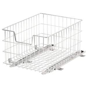 EcoStorage 13 in. W x 17.75 in. D x 11 in. H Steel Wire in Cabinet Pull-Out Wire Basket