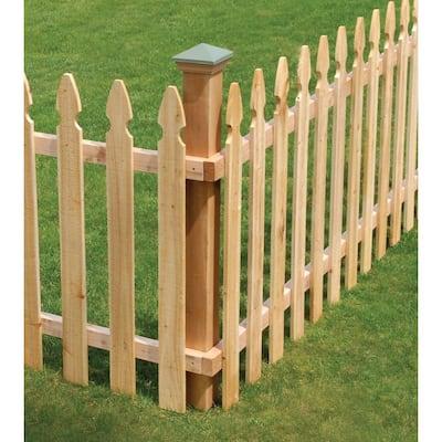 2 in. x 4 in. x 6 ft. Rough Sawn Western Red Cedar Fence Panel Backer Rail (4-Pack)