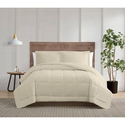 Silver Cool 3-Piece Khaki Cotton Full/Queen Comforter Set