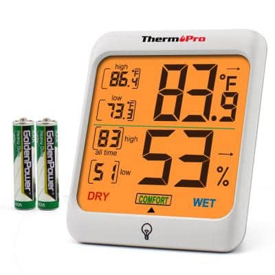 TP53 Digital Indoor Thermometer Hygrometer Home Temperature Humidity Meter with Backlight