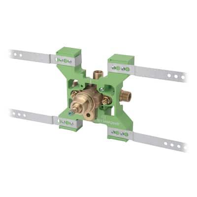 Temptrol Rapid Install Pressure-Balancing Tub & Shower Mixing Valve with VersaFlex Integral Diverter & EasyService Stops