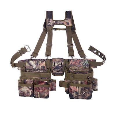 Mossy Oak Break Up Infinity Camo Adjustable Tool Belt with Suspenders