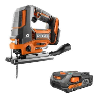 18V OCTANE Brushless Cordless Jig Saw with Blade and 2.0 Ah Lithium-Ion Battery