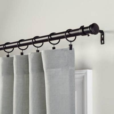 Mix and Match 1.5 in. Curtain Clip Rings (for 1 in. Curtain Rods) in Matte Black (10-Pack)