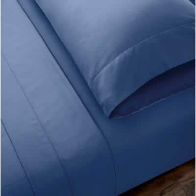 500 Thread Count Egyptian Cotton Solid Sateen 6-Piece Sheet Set