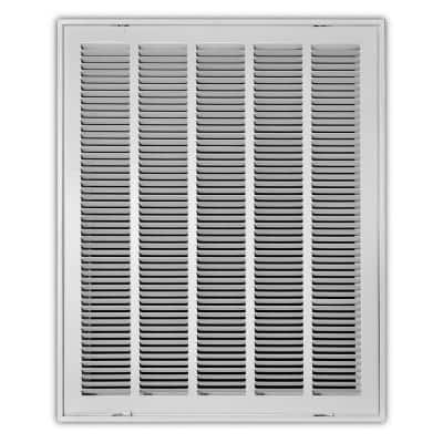 20 in. x 25 in. Steel Return Air Filter Grille in White