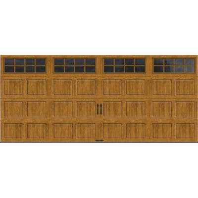 Gallery Collection 15 ft. 6 in. x 7 ft. 6.5 R-Value Insulated Ultra-Grain Medium Garage Door with SQ22 Window