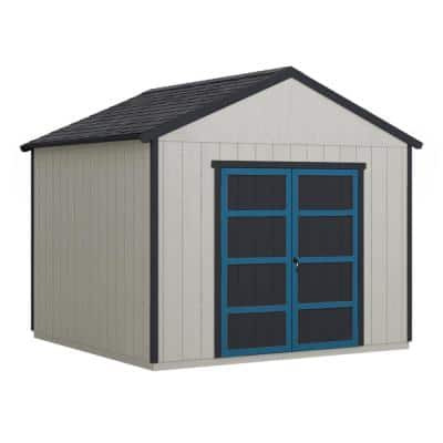 Do-it Yourself Rookwood 10 ft. x 8 ft. Wooden Storage with Fooring Included