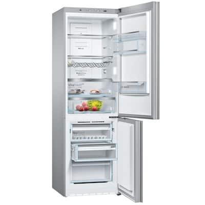 800 Series 24 in. 10 cu. ft. Bottom Freezer Refrigerator in White Glass, Counter Depth