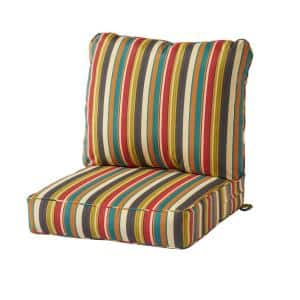 Sunset Stripe 2-Piece Deep Seating Outdoor Lounge Chair Cushion Set