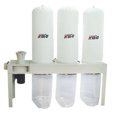 5 HP 3,990 CFM 1-Phase 220-Volt Vertical Bag Dust Collector