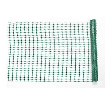 4 ft. x 50 ft. Green Warning Barrier Fence