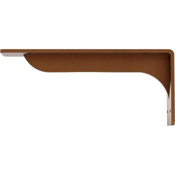 Hammered Copper Ekena Millwork BKTM02X07X07BRHCO 2 inch W x 7 inch D x 7 inch H Bradford Steel Bracket
