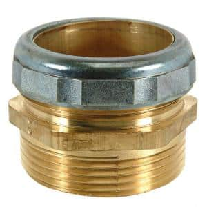 1-1/2 in. O.D. Comp x 1-1/2 in. MIP (1-1/2 in. I.D. Female Sweat) Brass Waste Connector with Die Cast Nut in Chrome