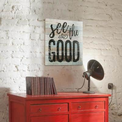 15 in. x 15 in. See the Good Wooden Wall Art