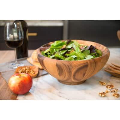 Large Acacia Wood Salad Bowl